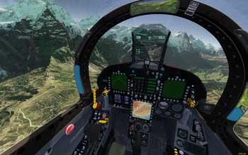 VR virtual reality vliegsimulatie